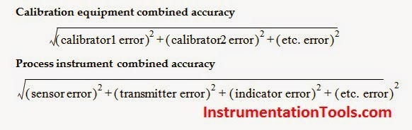 Calibration Accuracy calculation Formula