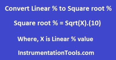 Formula for Linear Percentage to Square root Percentage Conversion