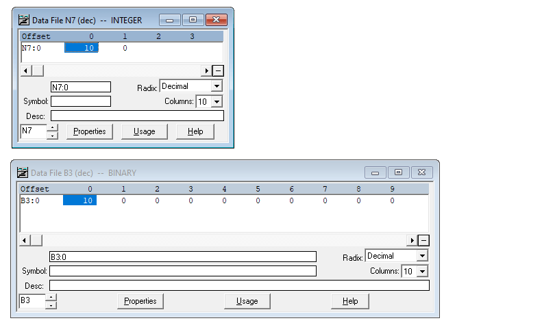 RS Logix 500 FIFO Function Data File