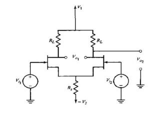 MOSFET differential amplifier