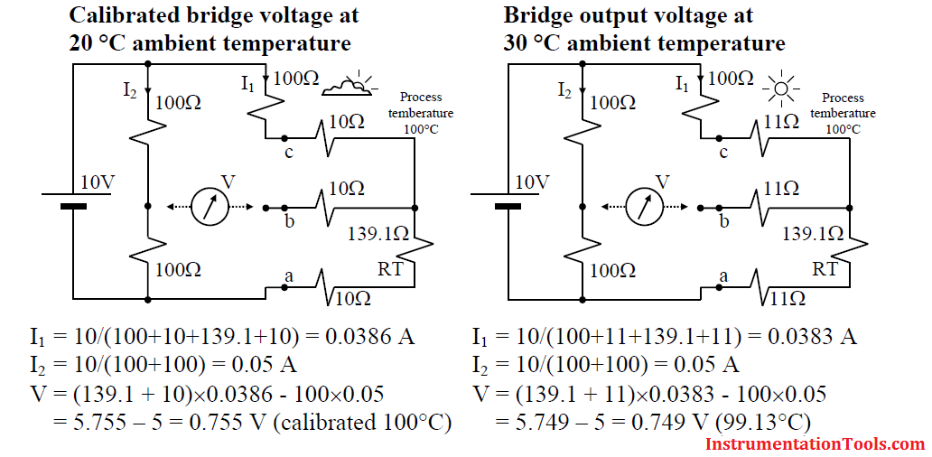 3 wire RTD lead wire resistance