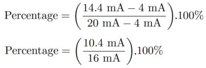 4-20mA to Percentage Calculation