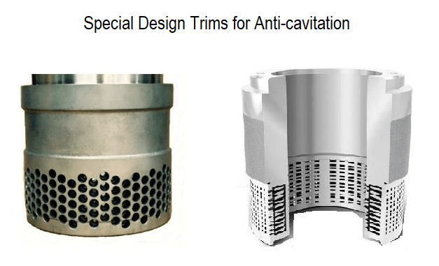 Special Design Trims for Anti-Cavitation