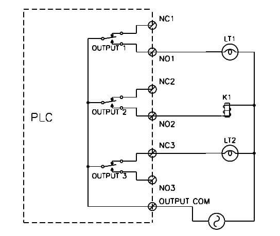 PLC relay wiring