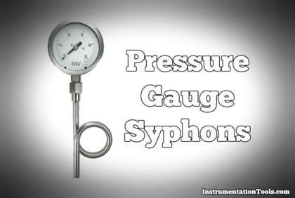 Pressure Gauge with Syphons