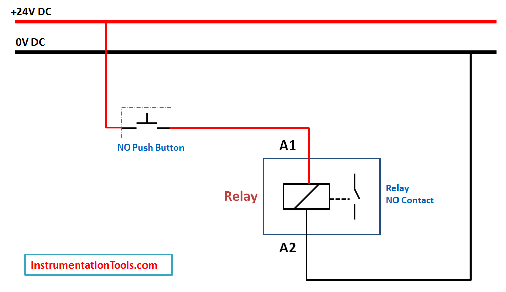 [SCHEMATICS_4CA]  Relay Latching Circuit using Push Button - Instrumentation Tools | Latching Relay Wiring Diagram |  | Instrumentation Tools
