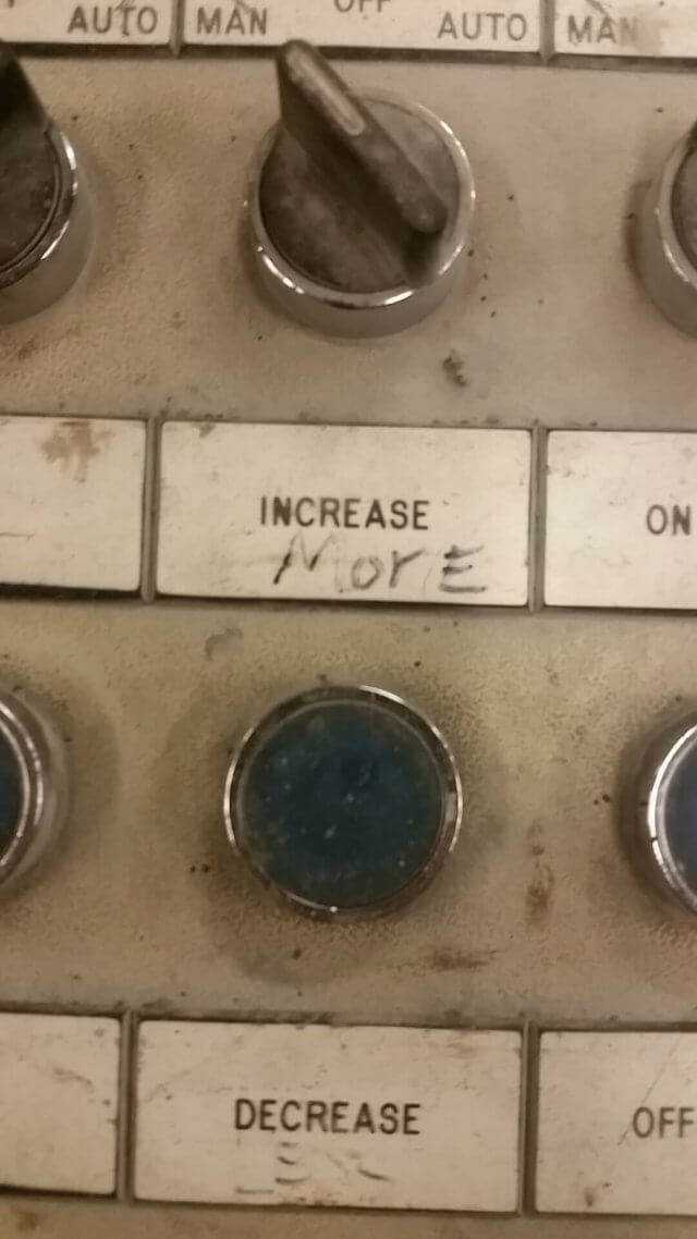 Local Control Panel Label Wrong