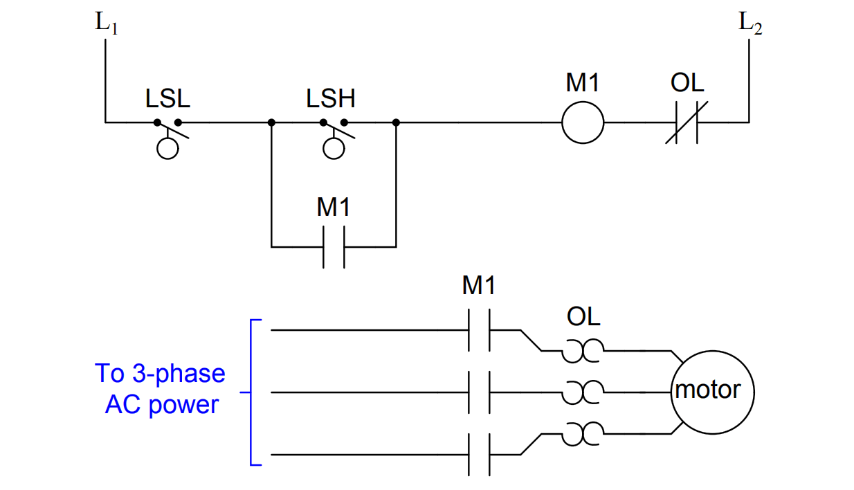simple motor start-stop circuit