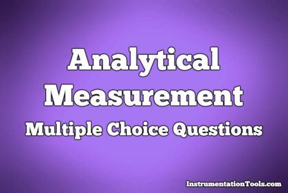 Analytical Measurement Multiple Choice Questions