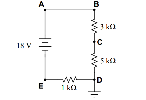 Calculate the voltage between test point