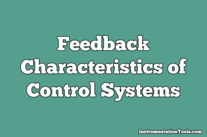 Feedback Characteristics of Control Systems