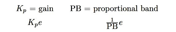 Proportional Controller equation