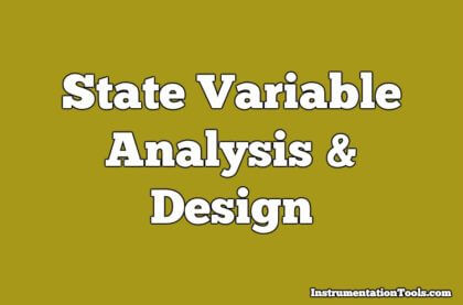 State Variable Analysis and Design