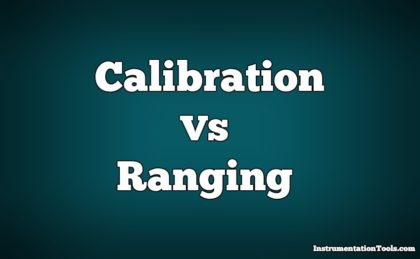 Difference between Calibration and Ranging