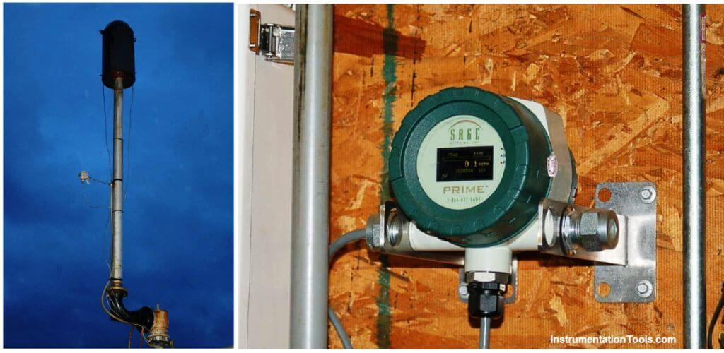 Thermal mass flow meters operation