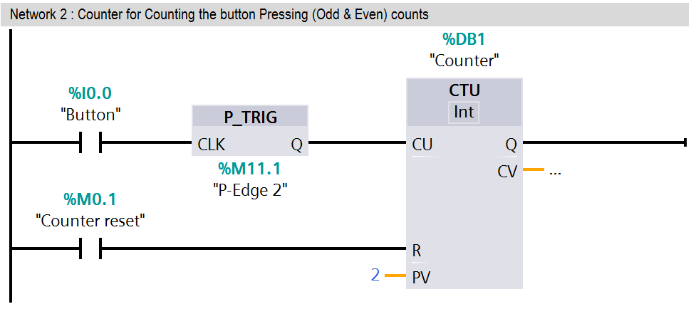 PLC latched function
