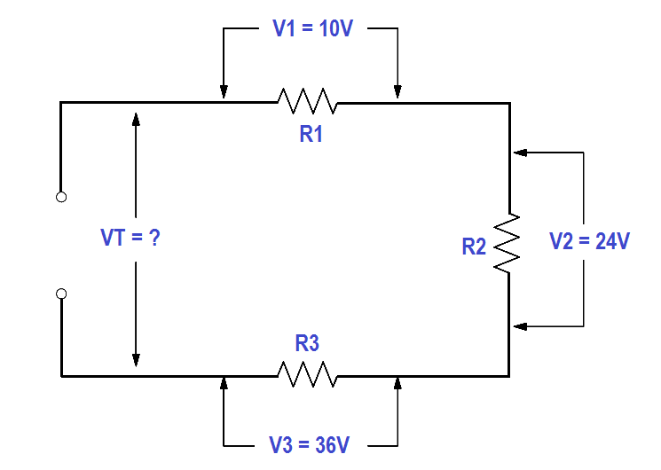 Total Voltage in a Series Circuit
