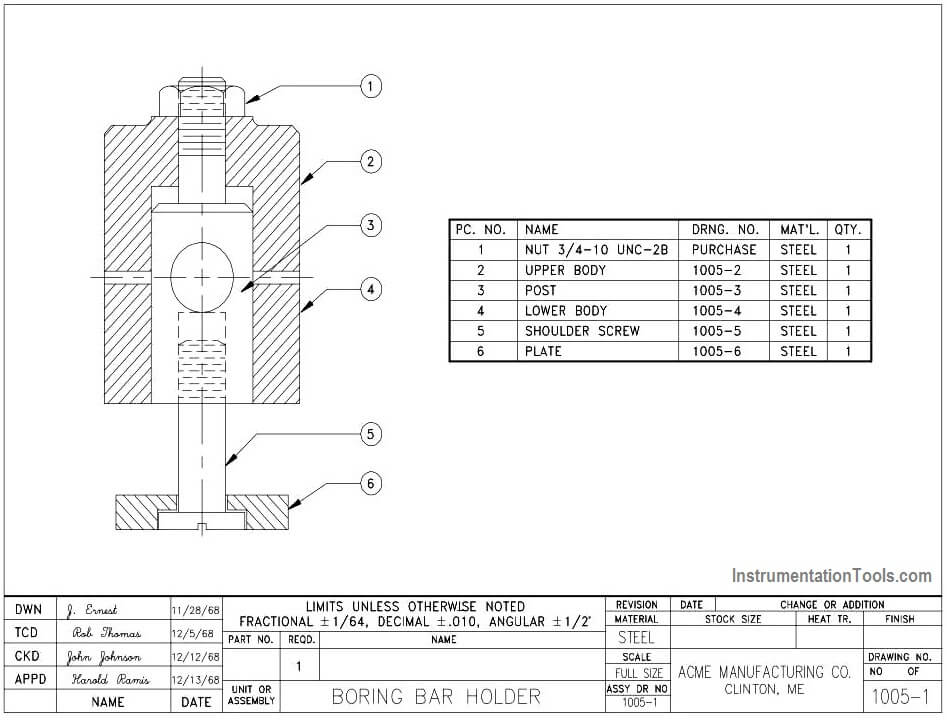Example of a Fabrication Drawing