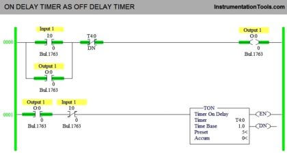 ON DELAY TIMER AS OFF DELAY TIMER