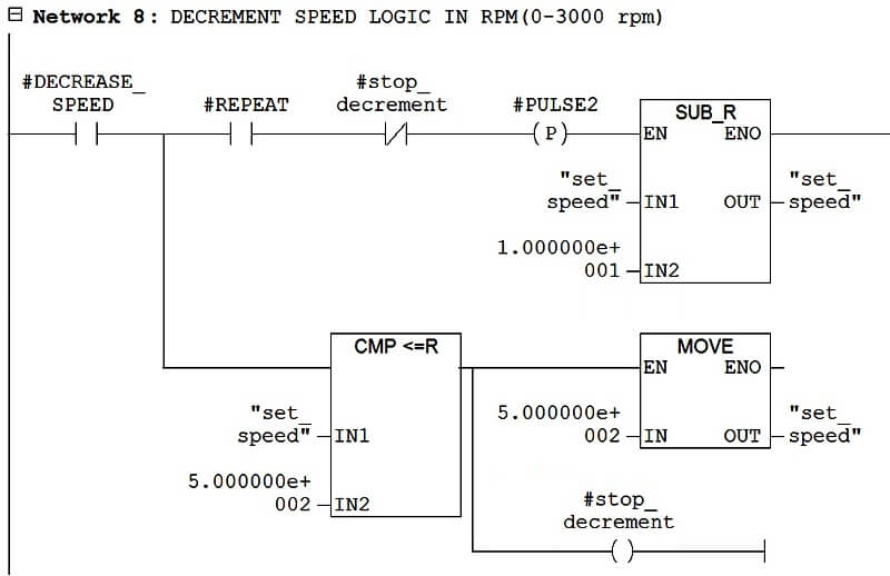 Ladder Logic to Decrease Speed in Drive