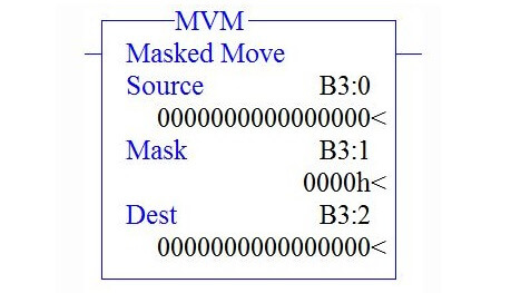 Masked Move Instruction in PLC