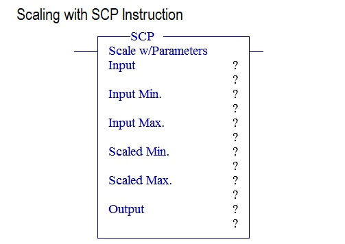 Scaling with SCP Instruction