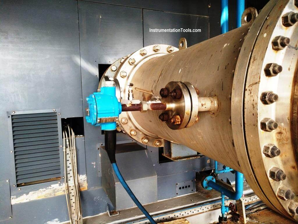flanged thermowell installation