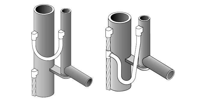 welded connections for gate bonding