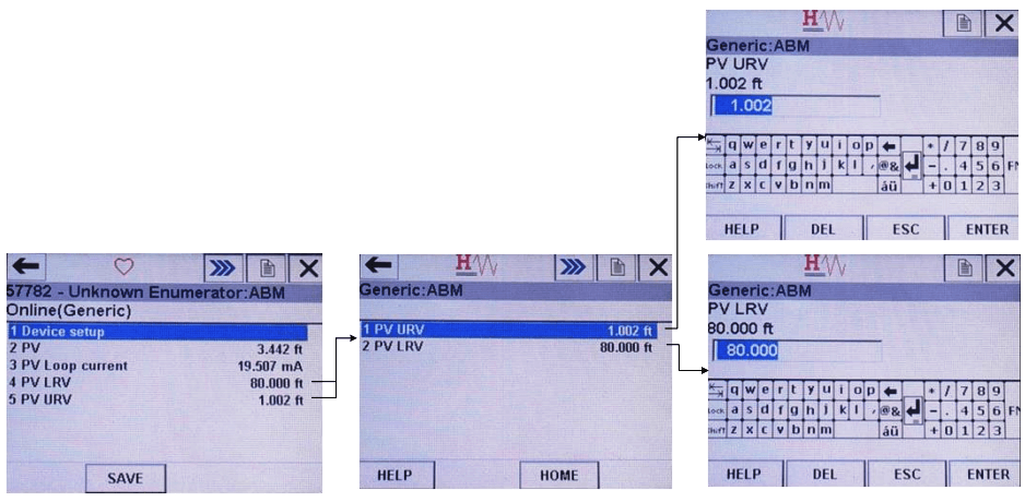 How to Configure URV and LRV in HART Communicator