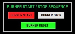 Burner Start Stop Sequence