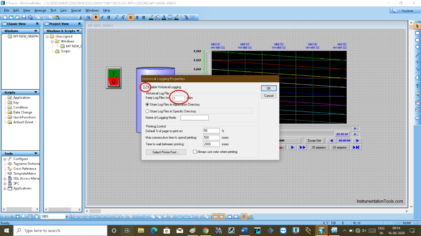 Configure Real Time Trend In Intouch SCADA