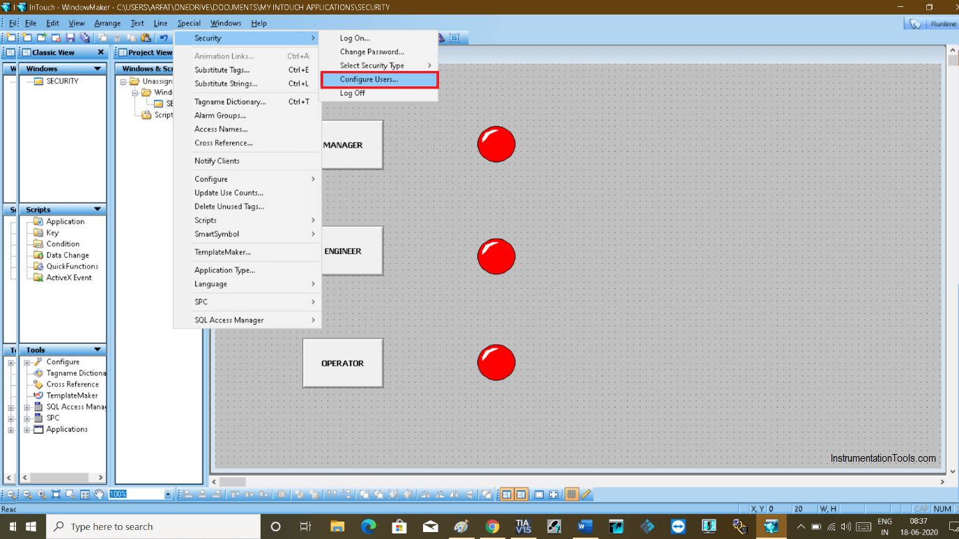 Configure Users in InTouch SCADA