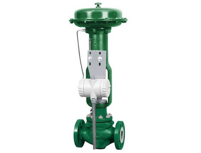 Control Valve with Position Transmitter