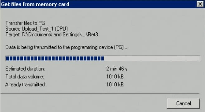 Get PLC Files from Memory Card