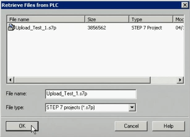 Retrieve Files from PLC