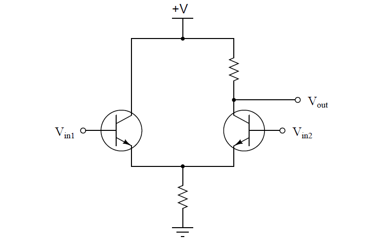 Equivalent electronic circuit of Pneumatic Relay