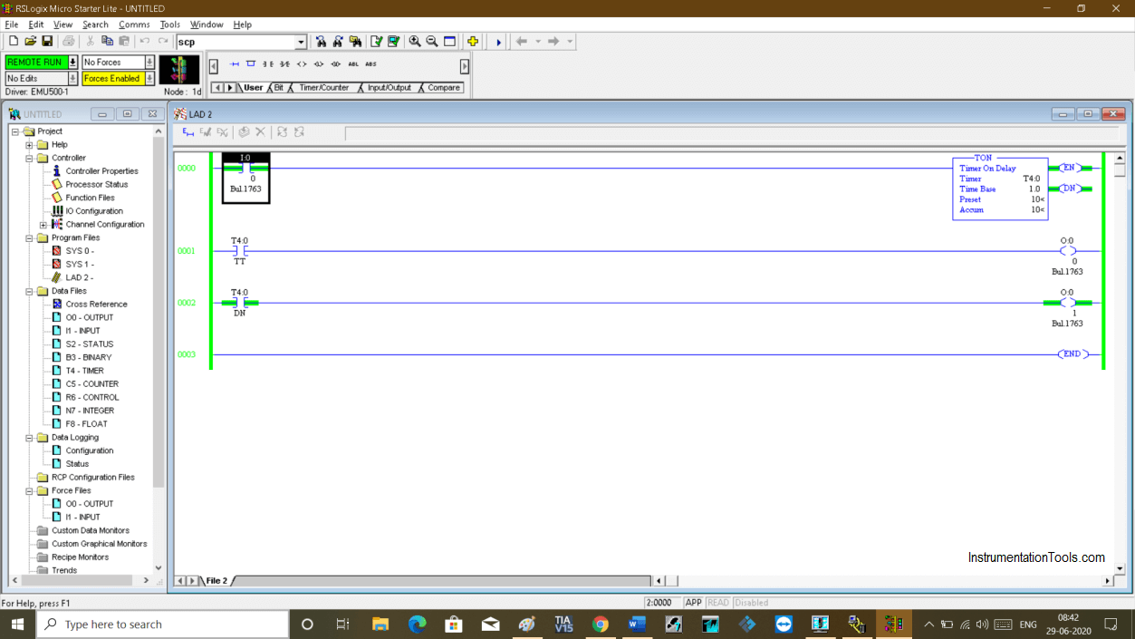 Using RSLogix Emulator in a Project