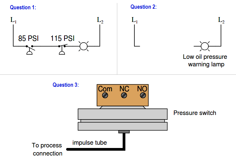 Pressure Switch Questions