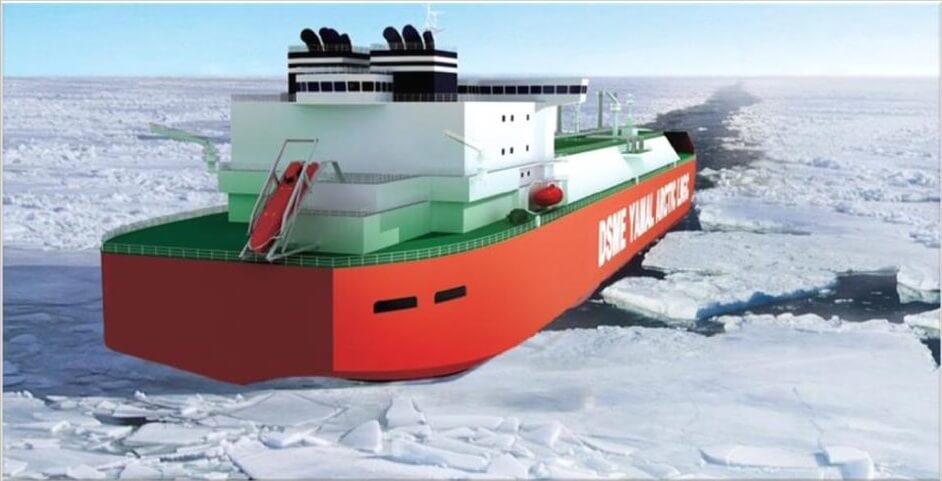 Double Acting LNG Carrier Propelling Heavy Ice Conditions