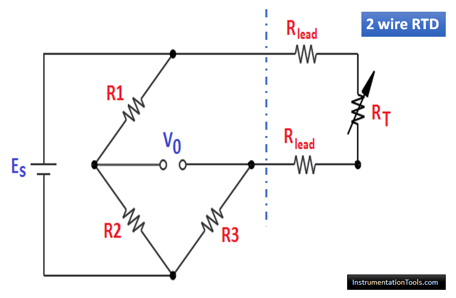 2 wire RTD circuit