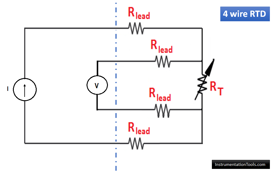 4 wire RTD circuit