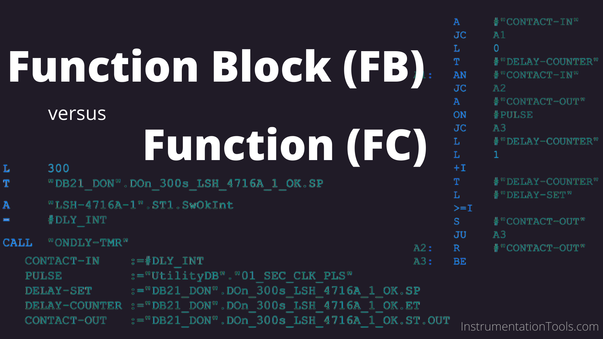 How Could FB and FC Make Me Professional PLC Programmer