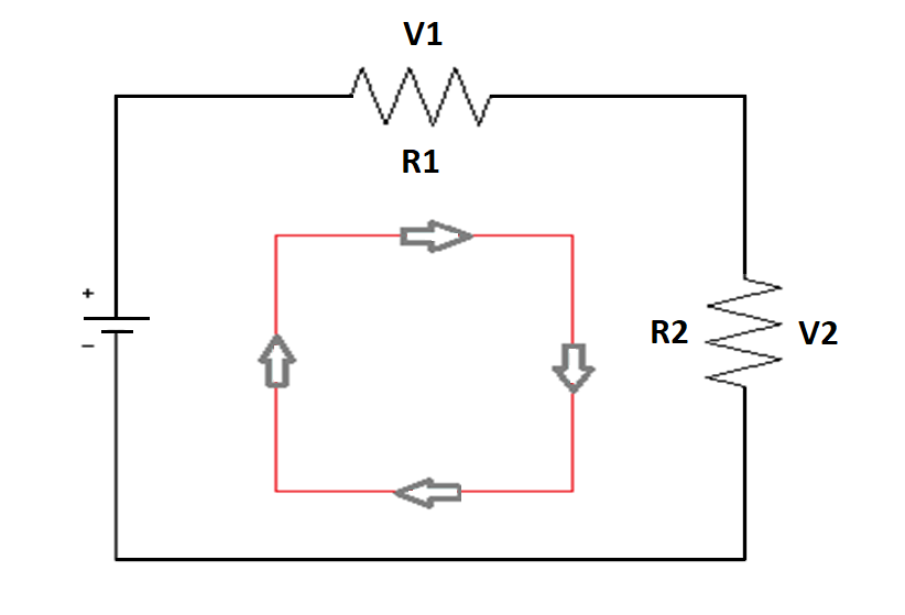 How a current loop flows in an analog circuit