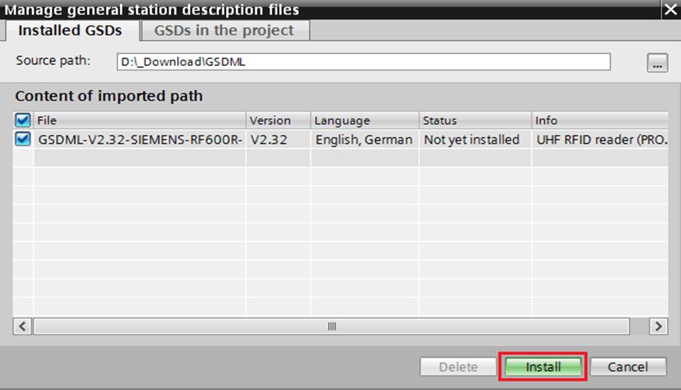 How to Import GSD files into TIA portal