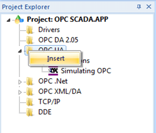 Connect tags with OPC nodes