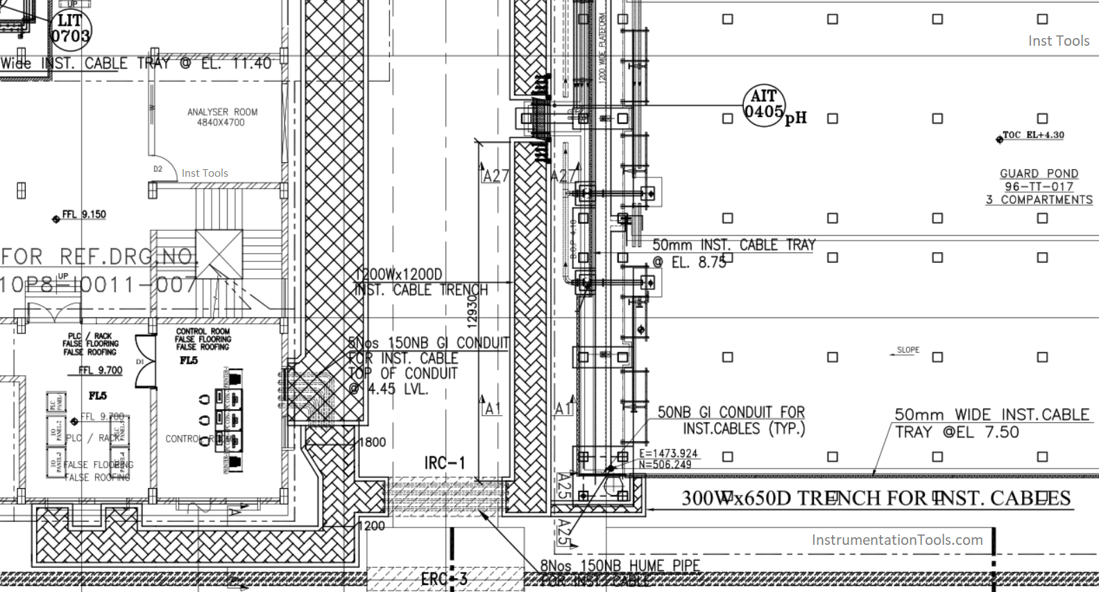 Instrument Cable Tray Layout