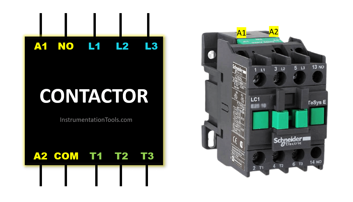 Contactor Terminals and Wiring