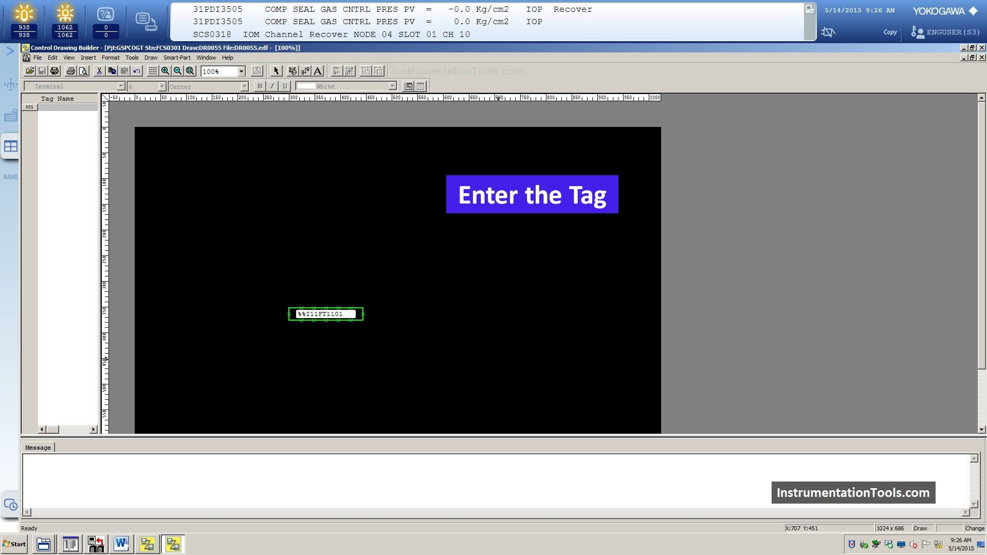 Enter the New Tag in Centum VP