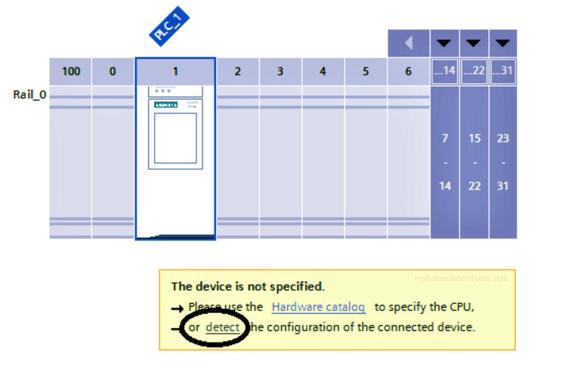 hardware configuration of siemens plc
