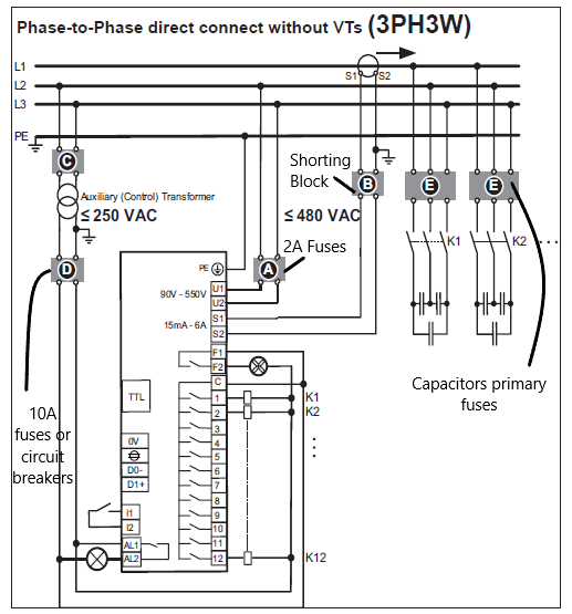 power factor correction using capacitors